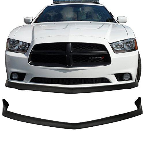 Fits 2011-2014 Dodge Charger SRT IKON Style Urethane Front Bumper Lip Splitter