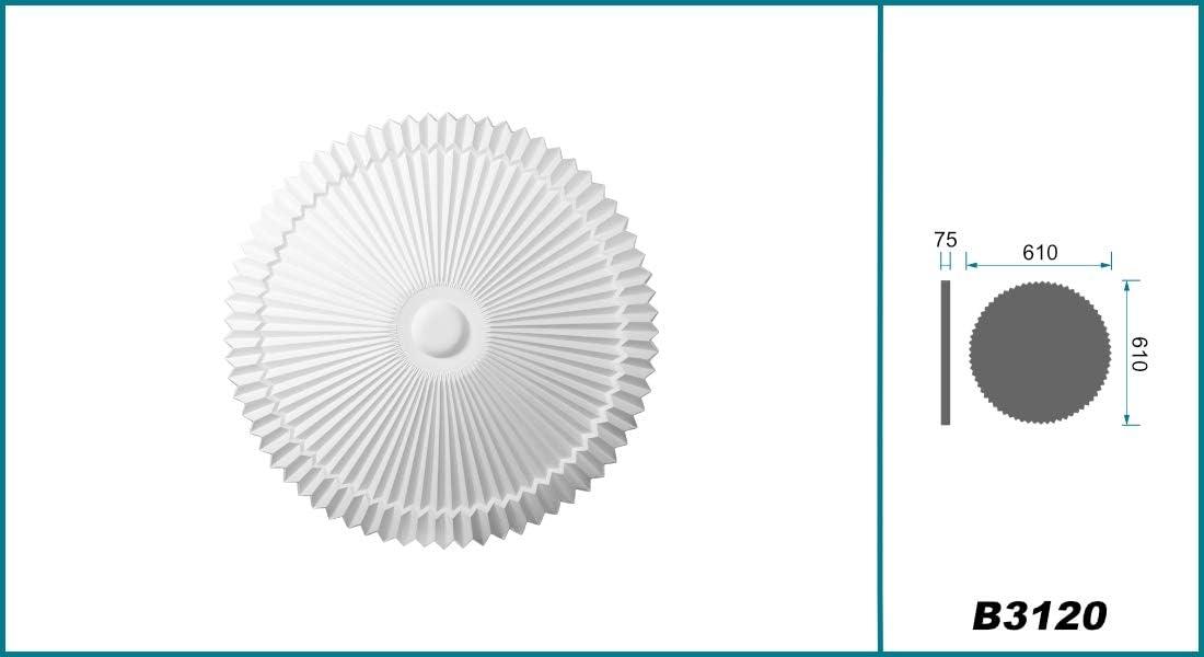 1 Pi/èce Rosette de Recouvrement Pu Antichoc R/ésistant Parfait 610x610mm B3120