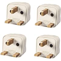 Vadda Bai UK Universal Flat 3 Pin Socket or Travel Power Plug Adapter -Set of 4 Pieces