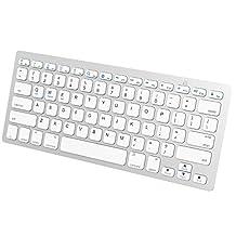 JETech K2156 Universal Bluetooth Wireless Keyboard, Portable, White
