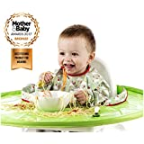 Tidy Tot All-in-One Bib and Tray Kit. Fresh Green. Unisex. One Size fits 6 months – 2 years. Award Winning Weaning Aid