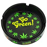 Rockin Gear Ashtray Weed Leaf Marijuana Go Green