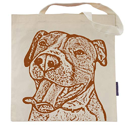(Buttercup the Pit Bull Tote Bag by Pet Studio Art)