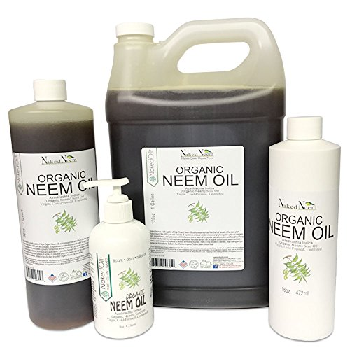 Naked Neem Organic Unrefined  Neem Oil, 16 Oz.
