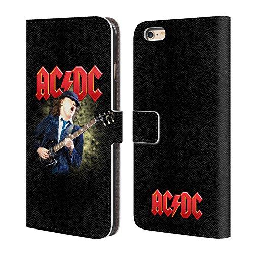 Officiel AC/DC ACDC Casser La Baraque Solo Étui Coque De Livre En Cuir Pour Apple iPhone 6 Plus / 6s Plus