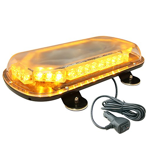 LAMPHUS SolarBlast 34W LED Construction Tow Truck Security Patrol Vehicle Strobe Warning Mini Light Bars Available - Amber