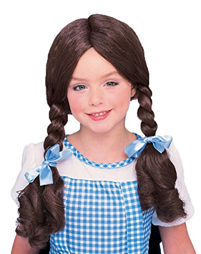 UHC Girl's Dorothy Wig Wizard Of Oz Pigtails Halloween Child Costume Accessory]()