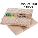 "Karlash Craft Sticks Ice Cream Sticks Wooden Popsicle Sticks 4-1/2"" Length Treat Sticks Ice Pop Sticks (Pack of 500)"