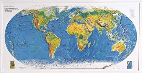 Amazon.com : American Educational 434 World Geo-Physical Map ... on printable world map with cities, worldmap with cities, world geography map with cities, digital world map with cities, big world map with cities, earth map with cities,