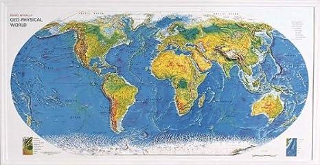Amazon Com American Educational 434 World Geo Physical Map Wall