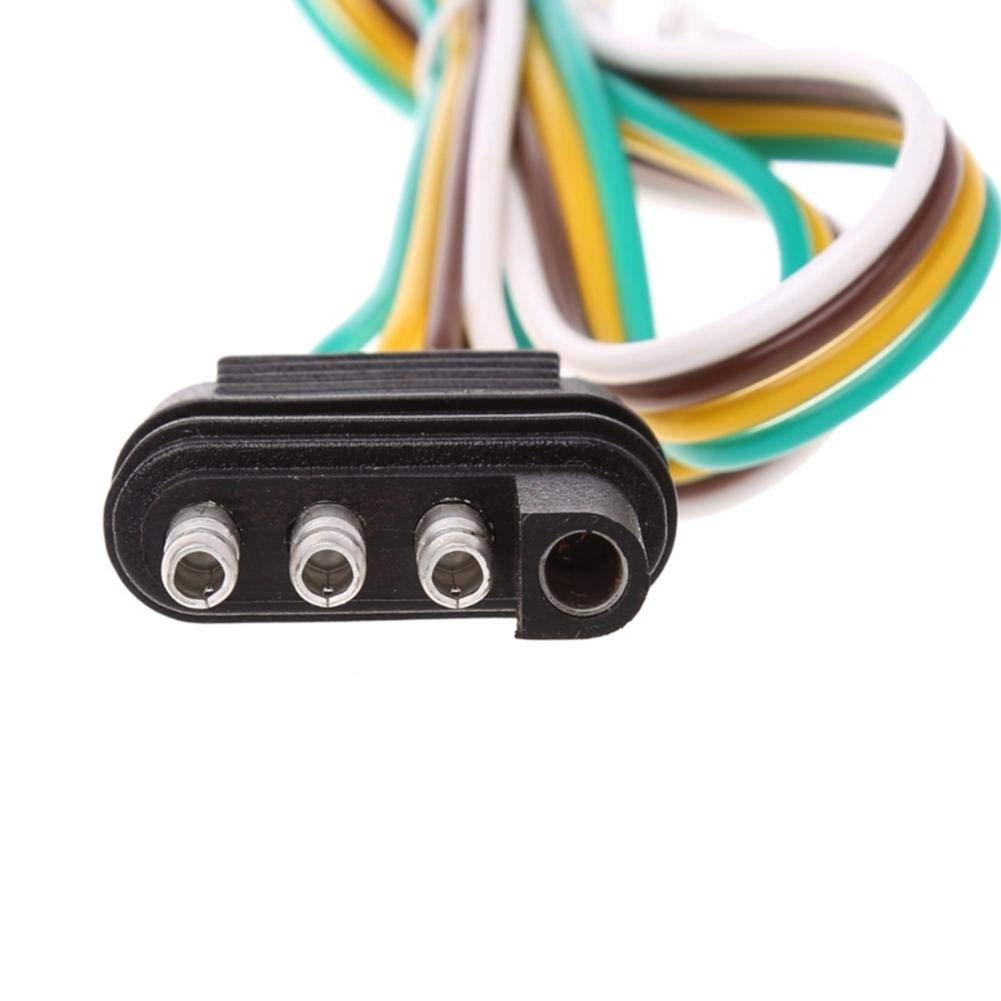 Calibre 20 fiche de Connexion Plate 4 Voies /à 4 Broches Extension de Faisceau de c/âblage de remorque Extension de connecteur 4 Plats Hete-supply Kit de c/âblage de remorque