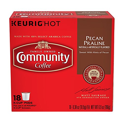 Community Coffee Pecan Praline, K-Cup for Keurig Brewers, 18 Count