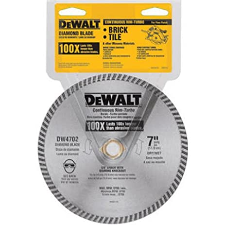 Dewalt dw4702 industrial 7 inch dry or wet cutting continuous rim dewalt dw4702 industrial 7 inch dry or wet cutting continuous rim diamond saw blade with greentooth Gallery