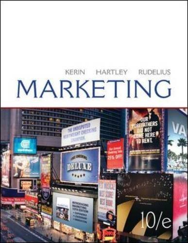 Kerin, Roger; Hartley, Steven; Rudelius, William's Marketing 10th (tenth) edition by Kerin, Roger; Hartley, Steven; Rudelius, William published by McGraw-Hill/Irwin [Hardcover] (2010)