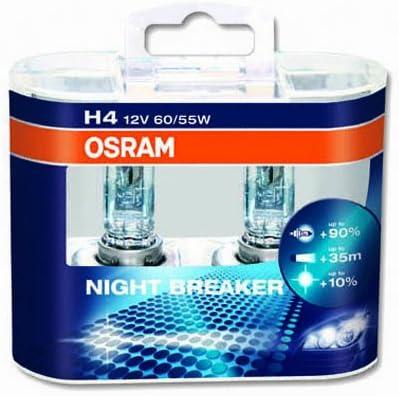 OSRAM 64193NBR Confezione 2 lampadine per fanali dellauto H4 12 V 60//55 W