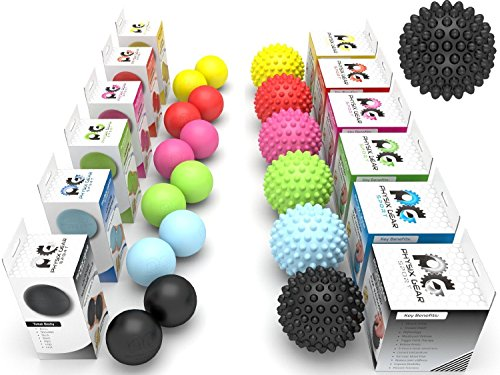 - Physix Gear Sport Lacrosse Ball Set of 2 - Best Deep Tissue Massage Balls for Trigger Points, Plantar Fasciitis Neck & Back Pain - Roller for Rehab, Acupressure Foot Reflexology & Myofascial (BLK 2PK)
