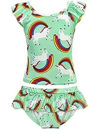 Unicorn Swimwear Girls Two-Pieces Swimsuit Toddler...