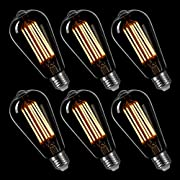 Amazon #DealOfTheDay: LIGHTSTORY ST19 4.5W Clear LED Filament Bulb(6 Pack)