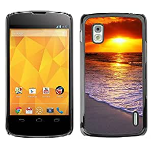 Exotic-Star ( Sunset Beautiful Nature 58 ) Fundas Cover Cubre Hard Case Cover para LG Google NEXUS 4 / Mako / E960