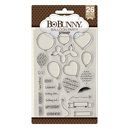 Bo Bunny 7310498 Balloon Party Stamps, Multi]()