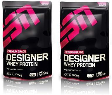 ESN Designer Whey Protein - 2 bolsas de 1000 g, sabor chocolate + chocolate=2 kg