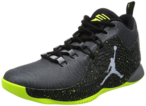 Jordan Nike Men's CP3.X Dark Grey/White/Black/Volt Basketball Shoe 10.5 Men US