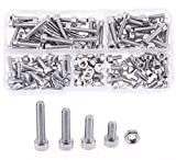 Hilitchi 180pcs M4 Stainless Steel Hex Socket Head
