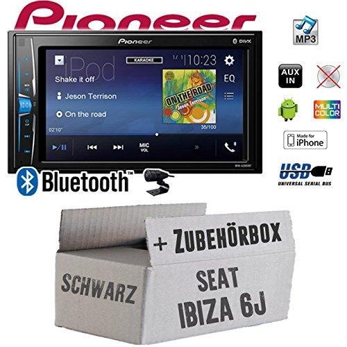 Seat Ibiza 6J 2DIN Schwarz - Autoradio Radio Pioneer MVH-A200VBT - 2-Din Bluetooth | MP3 | USB | - Einbauzubehö r - Einbauset JUST SOUND best choice for caraudio SeIb6jSW2_MVH-A200VBT