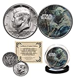 YODA - STAR WARS Officially Licensed 1977 Kennedy Half Dollar Coin with Certificate