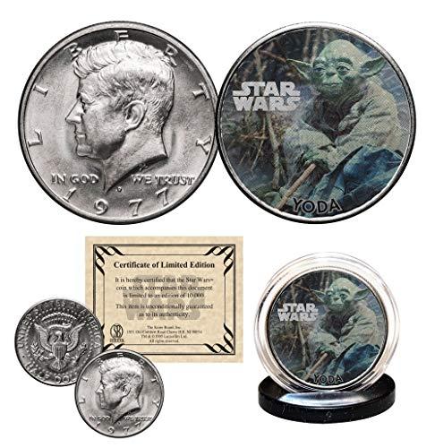 (YODA - STAR WARS Officially Licensed 1977 JFK Half Dollar U.S. Coin)