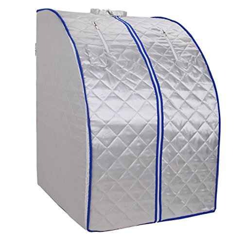Ridgeyard Portable Safe Folding Far FIR Infrared Sauna Spa Tent with Heating Footpad and Chair Slimming Weight Loss +Negative Ion Detox by Ridgeyard
