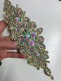 ShiDianYi Bridal Wedding Dress Sash Belt Applique AB Stone Belt Waist Decoration rhinestone bridal sash bridal shower
