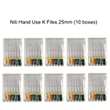CE FDA Approved Dorit Hand Use Probe File K File NiTi material 25mm #15--#40(6pcs a box, 10boxes a pack)
