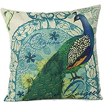 Amazoncom CaliTime Cushion Cover Throw Pillow Shell 18 X 18