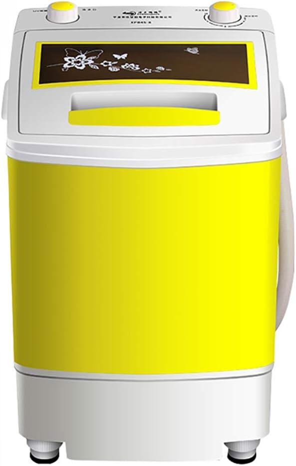 脱水および脱水機能を備えた単気筒のポータブル小型家庭用洗濯機は定期的に制御でき、ビルトインドレンポンプはアパート、寮、RV車、キャンプ場の半自動洗濯機に適しています (黄色/黒)