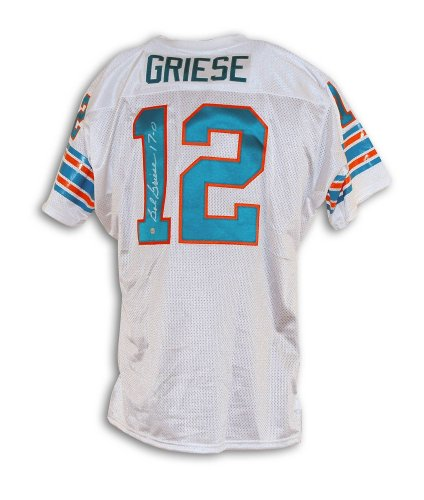 Bob Griese Miami Dolphins Autographed White Throwback Jersey Inscribed