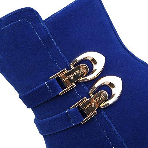 Sconosciuto 1TO9 - Sandali con Zeppa Donna, Blu (Blue), 35 EU