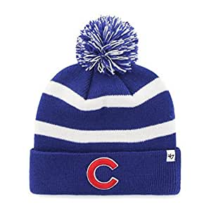 "Amazon.com : Chicago Cubs Blue ""Breakaway"" Beanie Hat with"