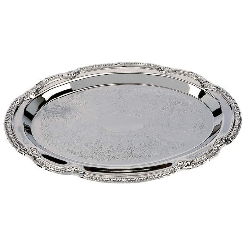 (Sterlingcraft Silver Finish Serving Tray, 9 x 6 inches )