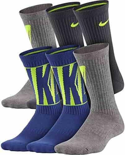 Nike Kids' Everyday Cushion Crew Socks (6 Pairs)