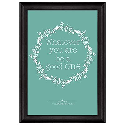 Minty with Flower Crown Quote Whatever You are Be a Good One by Abraham Lincoln Framed Art, Made With Love, Wonderful Picture
