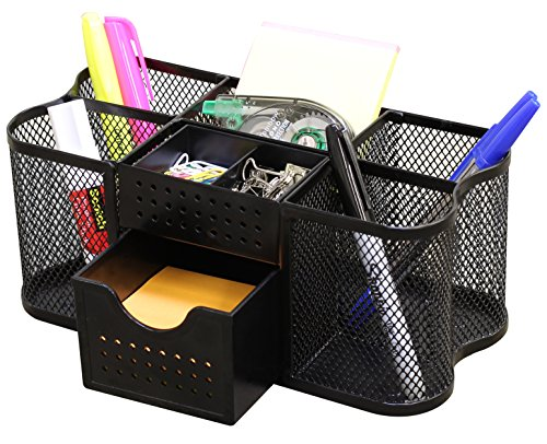 Decobros Desk Supplies Organizer Caddy Black Buy Online