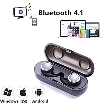 Auriculares Bluetooth V4.1, SETAYO Mini Auriculares Bluetooth Estéreo Invisible Inalámbrico Auriculares HIFI in