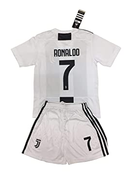 new product 398d1 2668e Juventus 2018-19#7 Cristiano Ronaldo Home Youths Football Soccer Kids  Jersey & Short