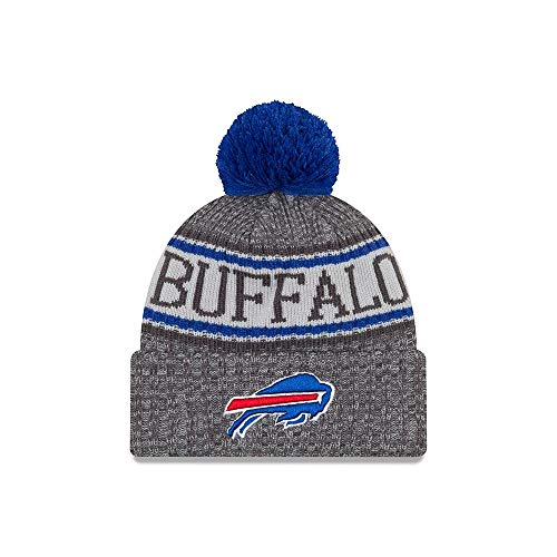 New Era Buffalo Bills Gray/Graphite Sport Knit NFL 2018 Beanie Unisex Hat Graphite, OSFM