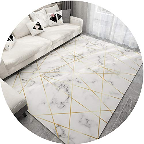 (Geometric Marble Pattern 3D Print Carpet Living Room Rug Sofa Coffee Table Mat Bedroom Yoga Pad Rectangular Bedside Blanket,L,1000MMx1600MM)