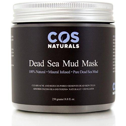 COS la boue de mer morte Naturals masque pour visage et corps 100 % naturel organique additif gratuit Pure minérale infusées peau profonde nettoyant efface l'acné réduit les Pores rides 8,8 Oz.