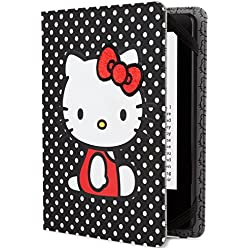 Hello Kitty Polka Dot Cover - Black (Fits Kindle Paperwhite, Kindle & Kindle Touch)
