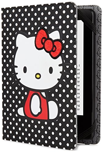 Hello Kitty Kindle (Hello Kitty  Polka Dot Cover - Black (Fits Kindle Paperwhite, Kindle & Kindle)