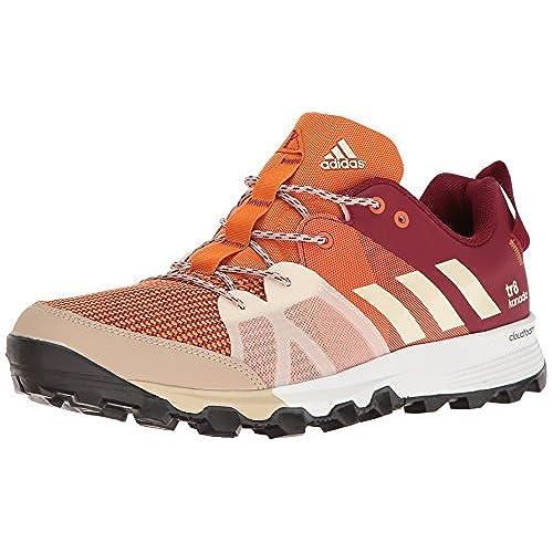 adidas Outdoor Men's Kanadia 8 TR Trail Running Shoe, Tactile Orange/Chalk  White/Col. Burgundy, 10 M US